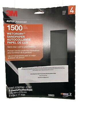 3M Imperial Wet or Dry 2000 Grit Sandpaper//Abrasive Sheets 9 x 11 Pkg of 50