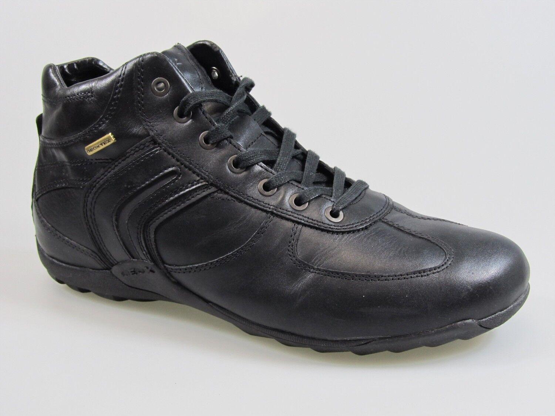 Scarpe GEOX Uomo modello COMPASS colore NERO scarpe da ginnastica geoxTEX scarponcino