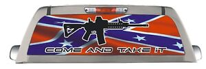Confederate come take it Back Window truck decal perforated sticker rear wrap