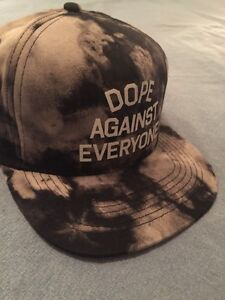 Image is loading DOPE-AGAINST-EVERYONE-SNAPBACK-HAT-TIE-DYE-NEW 7e2cfb4998ec