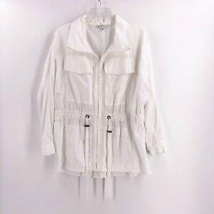Cabi-Womens-White-Jacket-Size-Medium-Style-728-Lightweight