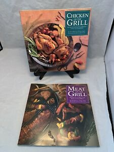 *LOT OF 2* Meat On The Grill/Chicken On The Grill Cookbooks FREE SHIPPING!!