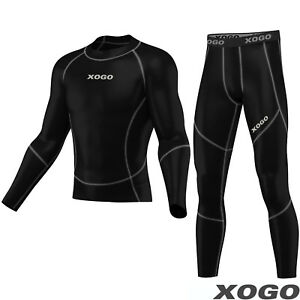 Pro-Mens-Compression-Armour-Base-layer-Top-amp-legging-running-under-arm-Skin-Fit