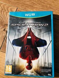 THE-AMAZING-SPIDER-MAN-2-Nintendo-WII-U-avec-boitier-en-bon-etat