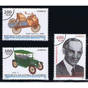 Äquatorialguinea Afrika Äquatorial-guinea Edifil 171/173 Henry Ford Autos Cars Überlastung Der Probe