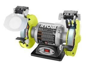 Super Details About Ryobi 6 Inch Bench Grinder Grinding Wheel Led Light Benchtop Tool Sharpener Rest Frankydiablos Diy Chair Ideas Frankydiabloscom