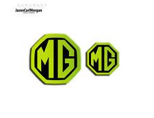 MG ZT MK1 Saloon Badge Inserts Front Rear Emblem Badges 59/40mm Night Glow Green