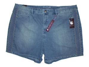 Gloria Vanderbilt Women/'s Plus Size Misha Twill Rolled Hem Shorts New $44