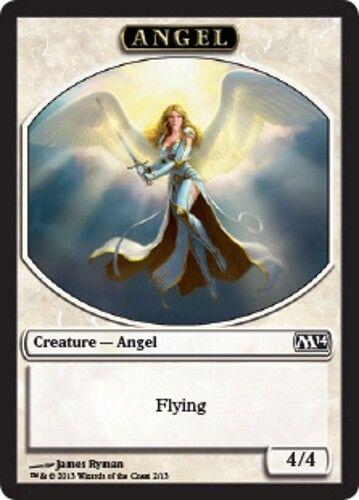 MTG Angel Token English, Magic 2014, Free P/&P
