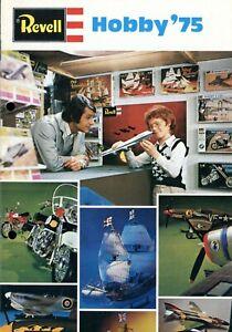 Revell-Modele-Kits-catalogue-1975-bateaux-avions-voitures-motos-chars