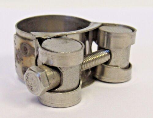 10 Nuevo paquete de 23-25 mm HD 304 Acero Inoxidable Abrazadera T-Bolt Nuevo en Caja . 91 - .98 pulgadas