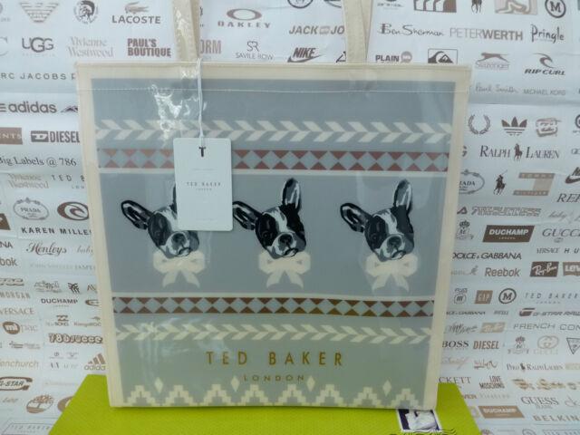 a273a3e4387976 TED BAKER Ladies Tote Bag LARGE Ash Handbag DOLCON Fairisle Icon Pvc Bags  BNWT