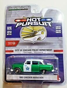 Greenlight 1//64 GREEN MACHINE Chicago Police 1961 Checker Marathon 42910B