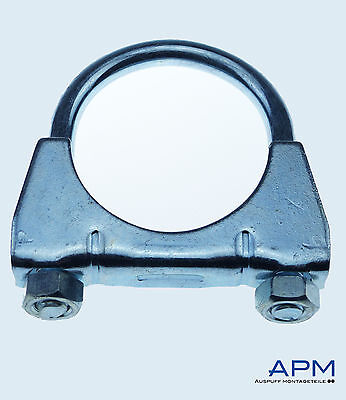 10 Stück Bügelschelle M8 x Ø 42 mm Auspuffschelle Rohrschelle Schelle Auspuff*