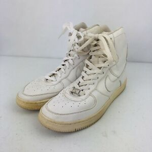 Details about Nike Air Force One High Top Shoes, White, US Size 9, Women's