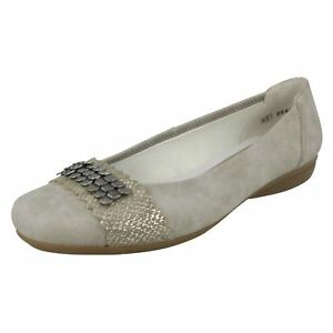 newest b57e5 a89ac Details about LADIES RIEKER BALLERINA STYLE CASUAL DRESSY SHOE L8360-41