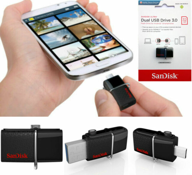 SanDisk 32GB 150MBs Dual OTG USB 3.0 Memoria Chiavetta Per Samsung telefoni