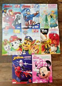 Coloring Books for kids Activity (6 Lot) Disney  AVENGERS PawPatrol SPIDERMAN