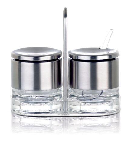 Emsa ACCENTA Sahne-//Zucker-Menage Edelstahl Zuckerdose Milchkanne Milchkännchen