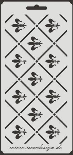 Scrapbook Stencil S-025  Fleur Pattern ~ Craft ~ UMR-Design