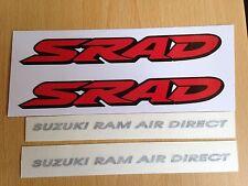 Suzuki SRAD Suzuki Ram Air Direct Pegatinas de vinilo en las Moto Motocicleta x2