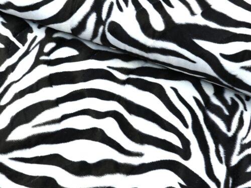 Fellimitat Stoff Kunstfell Deko Sitzsack Zebra Groß EUR 8,50//m