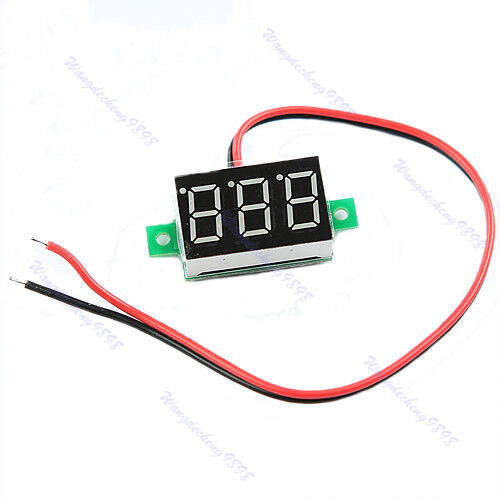 DC2.5-30V Mini LED Red Volt Voltage Meter Display Digital Voltmeter Self-Powered