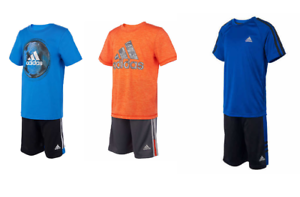 NEW-Adidas-Boys-Youth-2-piece-Short-Set-VARIETY