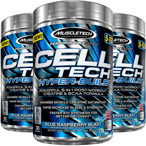 Muscletech Cell-Tech Hyper-Build 485g Kraftvoll 5-in-1 nach dem Training Formel