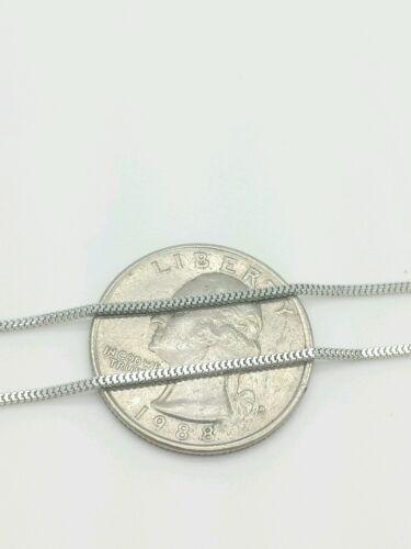 "14k White Gold Milano Box Necklace Pendant  Chain 20/"" 1.1mm"