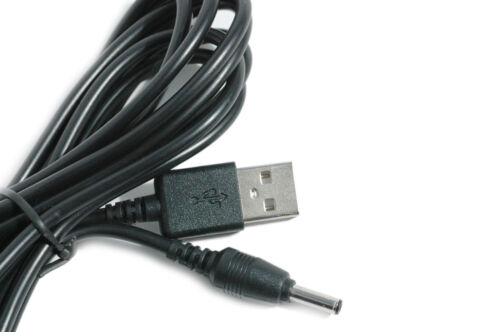 2m USB Black Cable for Tommee Tippee Closer to Nature 1082SP Baby Monitor