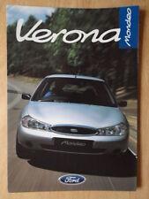 FORD MONDEO VERONA 1998 UK Mkt sales brochure