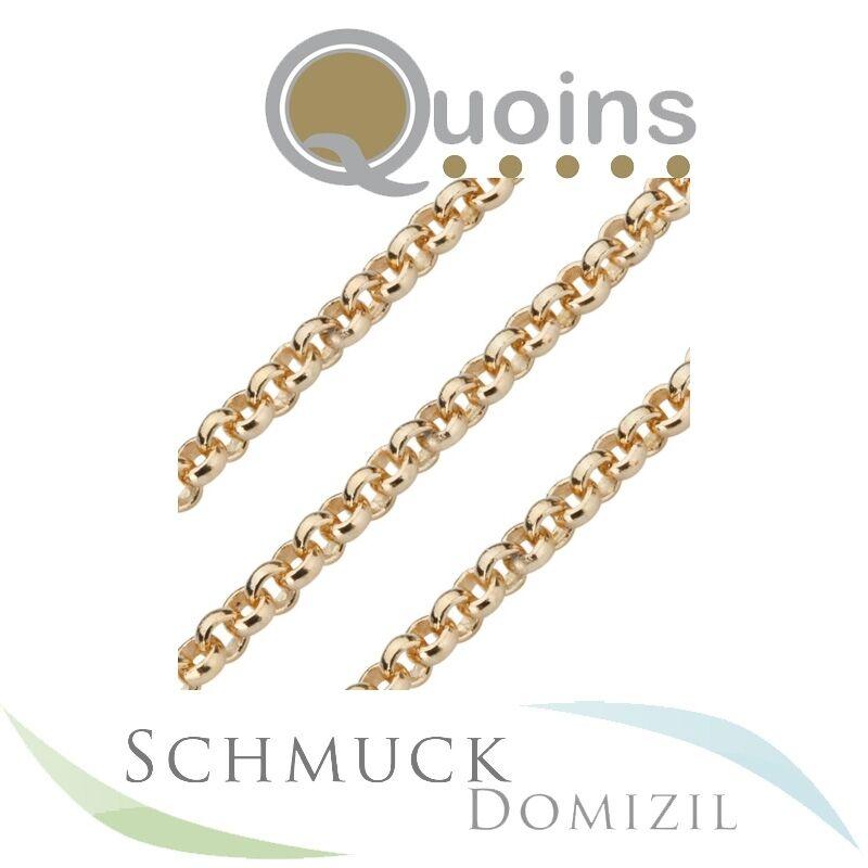 Quoins - Kette aus Edelstahl vergoldet - 50 cm  - QK-ER