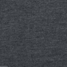 angerauter Sweatshirtstoff French Terry dunkelgrau meliert einfarbig
