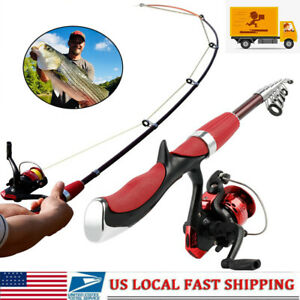 Telescopic-Spinning-Fishing-Rod-amp-Reels-Set-Combo-Carbon-Fishing-Pole-Tackle-Tools
