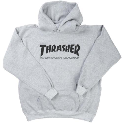 THRASHER MAGAZINE LOGO HOODY HEATHER GREY