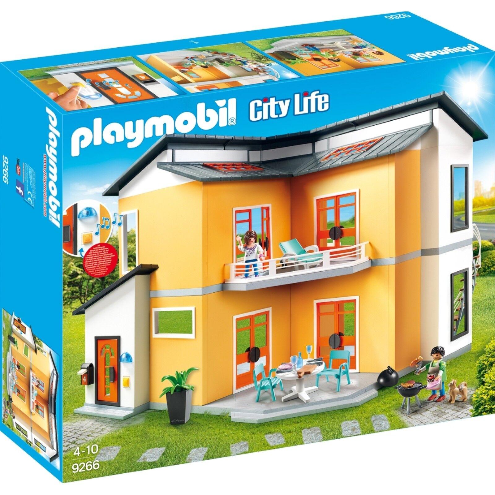 PLAYMOBIL 9266 - Modernes Wohnhaus ca. 67x49x40 cm ab 4 Jahren