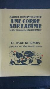 M. C. Weyer 36 Madera Una Cuerda En DE Abismo Colección Libro CD Fayard N º 154