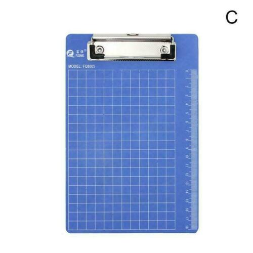 3 Größen Blau Klemmbrett Schreibtafel Klemmbrett Büro Schulbedarf Schreibwa B3I9
