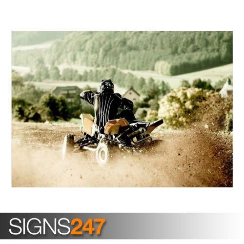 ATV RIDE AC037 Photo Picture Poster Print Art A0 A1 A2 A3 A4 ATV POSTER