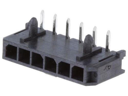 2x MX-43650-0600 Buchse Leitung-Platte männlich Micro-Fit 3.0 3mm PIN 6 MOLEX