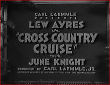 CROSS COUNTRY CRUISE 1934 Drama w/Lew Ayres, Alice White, Minna Gombell