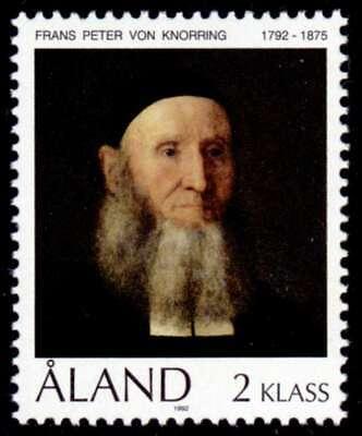 Aland 1992 Rev Von Knorring Commemorative Stamp Mnh