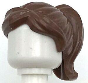 Lego New Red Minifigure Hair Female Ponytail and Swept Sideways Fringe Piece