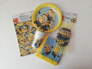 Minions-Despicable-Me-Party-Supplies-Tableware-Bundle