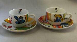 Puffi-Puffo-Smurf-Smurfs-Schtroumpfs-Espresso-Set-Tazzine-da-Caffe-2