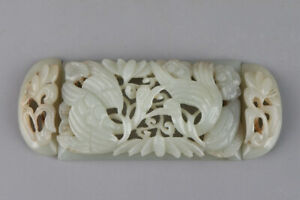 Chinese-Exquisite-Hand-carved-Crane-Carving-Hetian-jade-statue