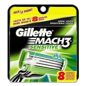 Gillette-Mach3-Sensitive-Razor-Blade-Refills-8-Cartridges-Known-as-M3-Power