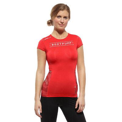 815944aa22a114 Reebok Les Mills DT Compression Short Sleeve Top Damen Gym T-shirt   eBay