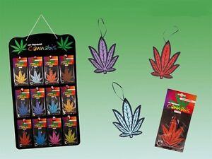 Duftbaum Lufterfrischer Raumduft Autoduft Form wie Cannabis Pflanze 11 versch.